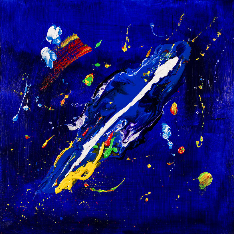 Ocean Deep a Contemporary Abstract painting by Tom Bushnell