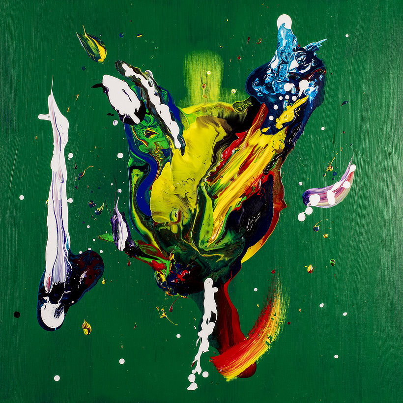 Creative Creatures a Contemporary Abstract painting by Tom Bushnell