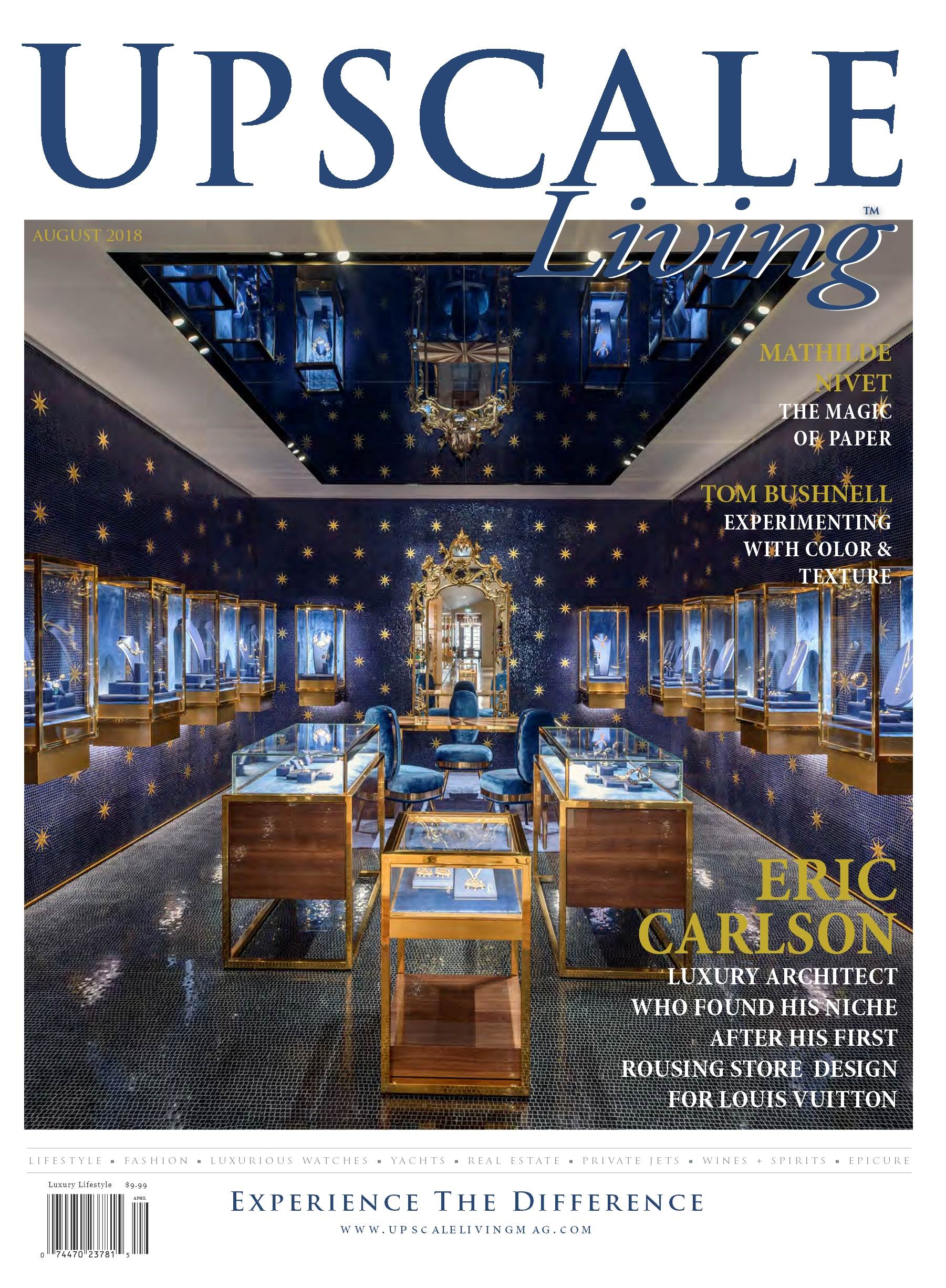 Upscale Living Magazine August cover