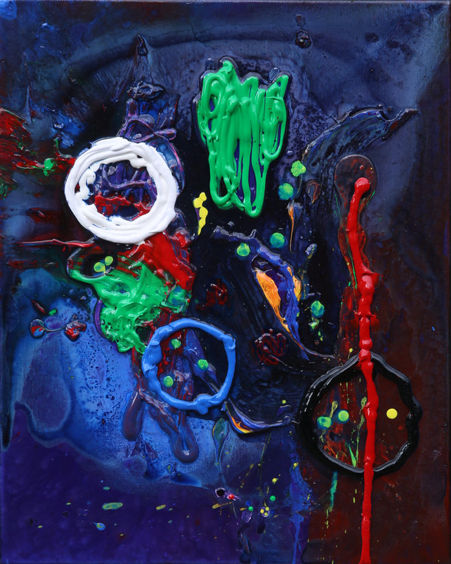 SOLD -21 Untitled Contemporary Abstract Art by Tom Bushnell