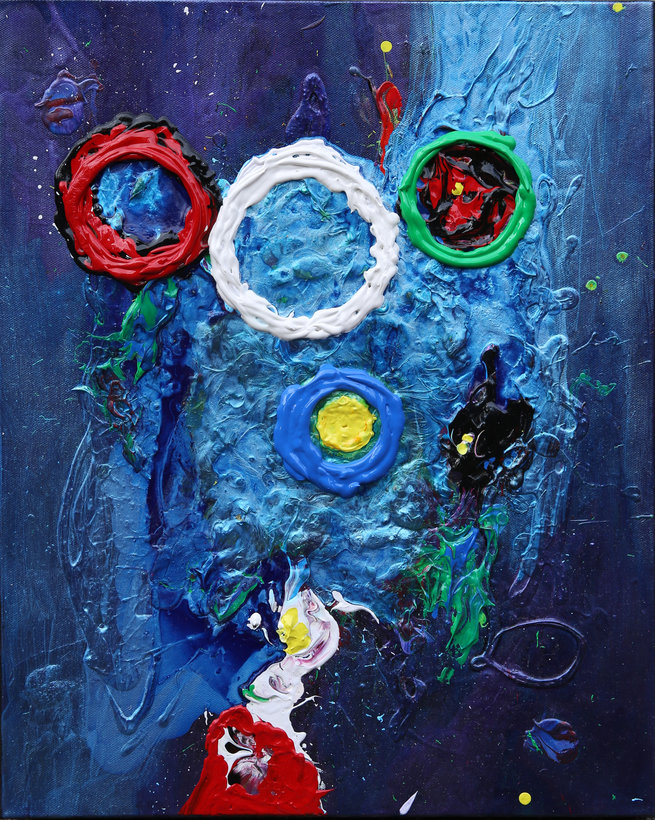 SOLD - 23 Untitled Contemporary Abstract Art by Tom Bushnell