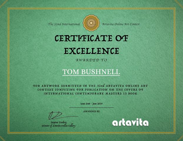 Artavita certificate