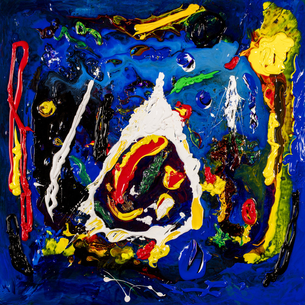 Happy Christmas a Contemporary Abstract painting by Tom Bushnell